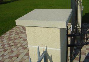 Chapeau de pilier béton sable alkern
