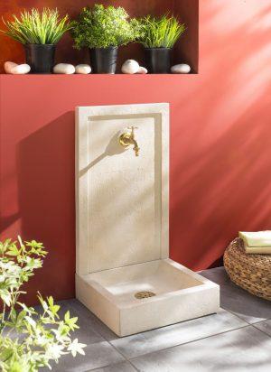 Fontaine béton SAVANE ton pierre alkern