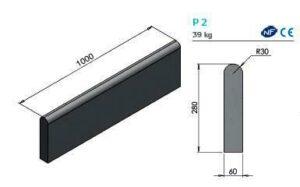 Profil bordure Alkern P2 béton