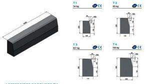 Profils bordures béton Alkern T1 à T4