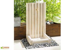 Fontaine Bambous en béton Alkern