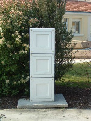 Réceptacle urne cimetière en béton Alkern