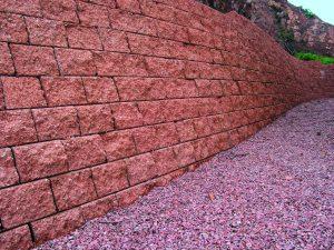 Mur fortin soutènement ocre alkern