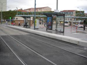 Bordure de tram en béton Alkern