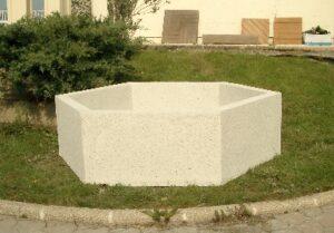 Jardinière en béton Alkern hexagonale