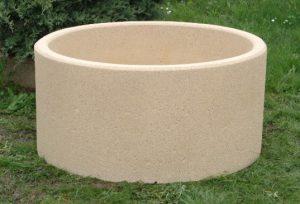 Jardinière Alkern en béton forme ronde