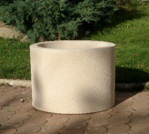 Jardinière Alkern en béton circulaire